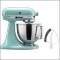 KitchenAid KSM150FEAQ Artisan Bundle Stand Mixers, 5 quart, Aqua Sky $229.99