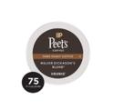 Peet's Major Dickason's 特调深度烘焙k-cup咖啡 75个 ,现点击coupon后