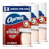 Charmin Ultra Strong Toilet Paper Family Mega Roll 24 Count