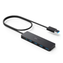 [Upgraded Version] Anker 4-Port USB 3.0 Ultra-Slim Data Hub with 2 ft Extended Cable for MacBook, Mac Pro/Mini, iMac, Surface Pro, XPS, PC, and More [Charging Not Supported] $6.99