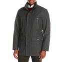 London Fog Men's Waterproof Breathable Wool Twill Coat