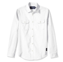 Calvin Klein Men's Long Sleeve Button Down Utility Shirt with Chest Pockets