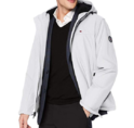 Tommy Hilfiger Men's Performance Hooded Open Bottom Jacket with Bunny Sherpa