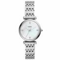 Fossil Women's Mini Carlie Stainless Steel Dress Quartz Watch $49.99,free shipping