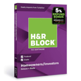 H&R Block Tax Software Deluxe + State 2018 with 5% Refund Bonus Offer [PC/Mac Disc] $18.00
