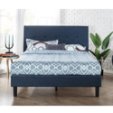 Zinus Omkaram Upholstered Navy Button Detailed Platform Bed / Mattress Foundation / Easy Assembly / Strong Wood Slat Support, Queen $119.00