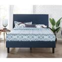 史低价!Zinus Omkaram 经典深蓝色床架,带床头板,Queen size,$119.00,免运费