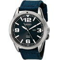 Seiko Men's Blue Dial Blue Nylon Strap Solar Watch $88.98,free shipping