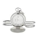 Bulova Men's Quartz Stainless Steel Pocket Watch, Color:White (Model: 96B270