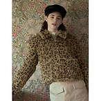 豹纹毛毛外套