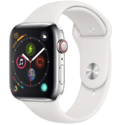 Apple Watch Series 4 (GPS + Cellular, 44mm) - Stainless Steel Case with White Sport Band $399.00