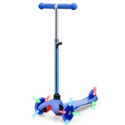 Best Choice Products: Kids Mini Kick Scooter Toy w/ Colorful Light-Up Wheels, Adjustable T-Bar