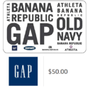 $50 Gap Options Gift Cards - Email Delivery $40