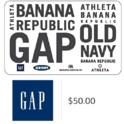 $50 Gap 电子礼卡,还可用于Old Navy、Banana Republic和Athleta 用折扣码后