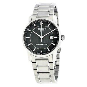 TISSOT T-Classic Titanium Automatic Black Dial Men's Watches