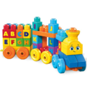 Mega Bloks ABC Musical Train Building Set, 50 pieces $14.99
