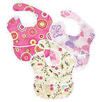 Bumkins SuperBib 3-Pack, Butterfly/Pink Fizz/Flutter Floral