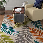 Encarnacion Blue/Green/Orange Indoor/Outdoor Area Rug
