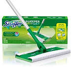 Swiffer Sweeper Dry + Wet Sweeping Kit (1 Sweeper, 7 Dry Cloths, 3 Wet Cloths)