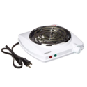 Brentwood TS-322 1000w Single Electric Burner, White $12.05