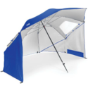 Sport-Brella Portable All-Weather and Sun Umbrella. 8-Foot Canopy. Blue.