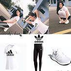 Adidas 金智妮同款T恤