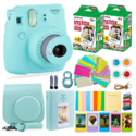 Fujifilm Instax Mini 9 Instant Camera + Fuji Instant Film (40 Sheets) + Accessories Bundle - Carrying Case, Color Filters, Photo Albums, Assorted Frames, Selfie Lens plus more $99.95,free shipping