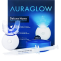AuraGlow Teeth Whitening Kit, LED Light, 35% Carbamide Peroxide, (2) 5ml Gel Syringes, Tray and Case $30.50