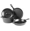 Lodge L4HS3KPLT Cast Iron 4-Piece Cookware Set $60.39,free shipping