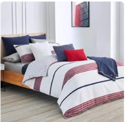 PRIME ONLY : Lacoste Meribel Blue and Grey Colorblock Striped Brushed Twill Comforter Set, Full/Queen $88.19
