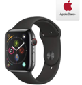Apple Watch Series 4 (GPS + Cellular, 44mm) - Space Black Stainless Steel Case with Black Sport Band with AppleCare+ Bundle $478.00
