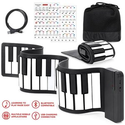 Best Choice Products: Kids 49-Key Portable Roll-Up Piano Keyboard Musical STEM Toy w/ Bluetooth