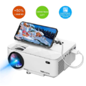 """Mini Projector, T TOPVISION 2400Lux Projector with Synchronize Smart Phone Screen, Supported 1080P, 176"""" Display, 50,000 Hours Led, Compatible with Fire TV $84.97,free shipping"""