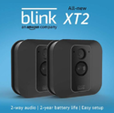 All-new Blink XT2 Outdoor/Indoor Smart Security Camera with cloud storage included, 2-way audio, 2-year battery life - 2 camera kit