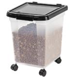 IRIS 宠物口粮密封带轮储物盒,25磅容量
