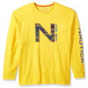 Nautica Men's Printed Long Sleeve Crew Neck Shirt $22