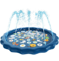 "SplashEZ 3-in-1 Sprinkler for Kids, Splash Pad, and Wading Pool for Learning ""from A to Z"" Outdoor Swimming Pool for Babies and Toddlers"