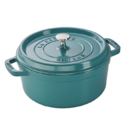 Staub Cast Iron 4-qt Round Cocotte - Turquoise $99.95,free shipping