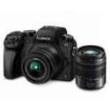 PANASONIC LUMIX G7 4K Digital Mirrorless Camera Bundle with LUMIX G Vario 14-42mm and 45-150mm Lenses, 16MP, 3-Inch Touch LCD, DMC-G7WK $497.99,free shipping