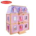 Melissa & Doug Multi-Level Wooden Dollhouse With 19 pcs Furniture $91.00,free shipping
