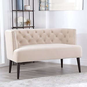Andrea Tufted Velvet Settee (Assorted Colors)