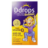 Ddrops加强型维生素D3 600IU, 100滴