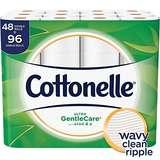 Cottonelle Gentle Care舒适大卷双层卫生纸,48卷,带芦荟素和维生素E