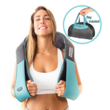 Shiatsu Back Neck and Shoulder Massager with Heat - Deep Tissue 3D Kneading Pillow Massager for Neck, Back, Shoulders, Foot, $39.97,free shipping