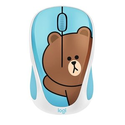 Logitech x LINE FRIENDS 超萌 布朗熊联名款 无线鼠标