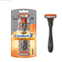 BIC Comfort 3 Hybrid Men's Razor, 1 Handle 6 Cartridge