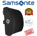 Samsonite SA5243 - Ergonomic Lumbar Support Pillow - Helps Relieve Lower Back Pain - 100% Pure Memory Foam