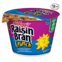 Kellogg's Raisin Bran Crunch, Breakfast Cereal in a Cup, Original, Good Source of Fiber, Bulk Size, 2.8 oz(Pack of 12) $9.16