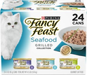 Chewy: Fancy Feast Grilled Seafood Feast Variety Pack Canned Cat Food, 3-oz, case of 24