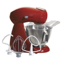 Deal of the Day: Hamilton Beach 63232 Eclectrics All-Metal Stand Mixer - Red $135.01,free shipping